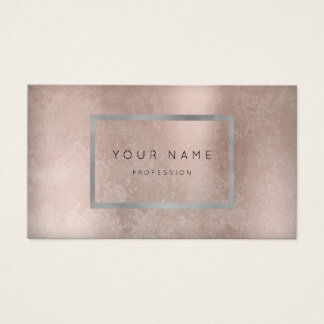 Makeup Silver Gray Grungy Frame Rose Appointment Business Card