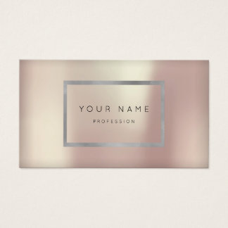 Makeup Silver Gray Silver Frame Rose Appointment Business Card