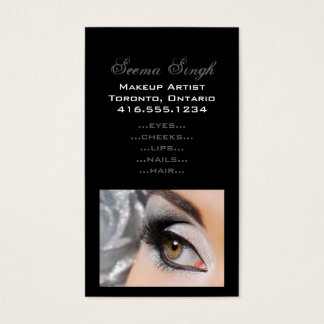 Makeup Smokey Eye Grey Business Card