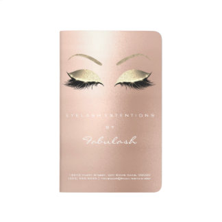 Makeup Stylist Branding Beauty Salon Rose Gold Journal