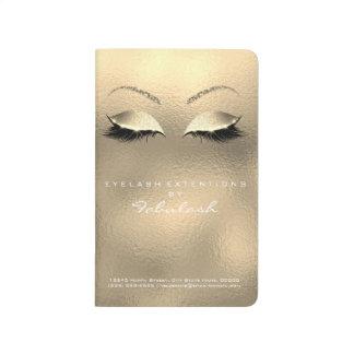 Makeup Stylist Branding Beauty Salon Sepia Gold Journal