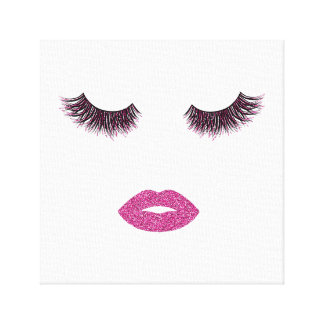Makeup with glitter effect canvas print