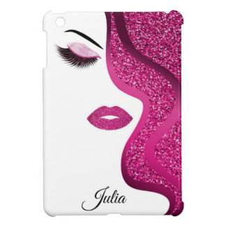 Makeup with glitter effect case for the iPad mini