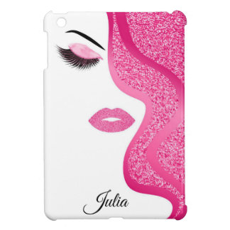 Makeup with glitter effect cover for the iPad mini