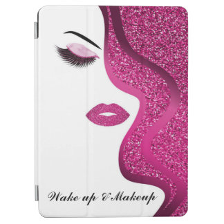 Makeup with glitter effect iPad air cover