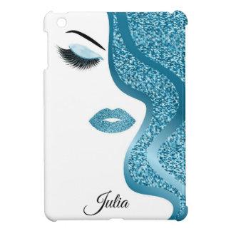Makeup with glitter effect iPad mini case