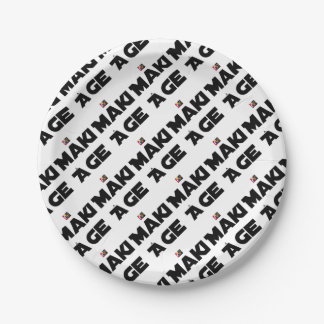 MAKI AGE - Word games - François City Paper Plate