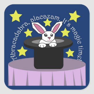 Makin' Magic Bunny Square Sticker