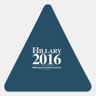 Making Grandmothers Proud - Anti Hillary Triangle Stickers
