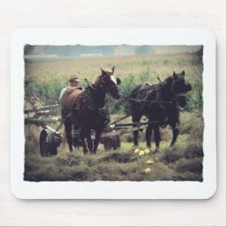 Making Hay With Horses Mouse Pad