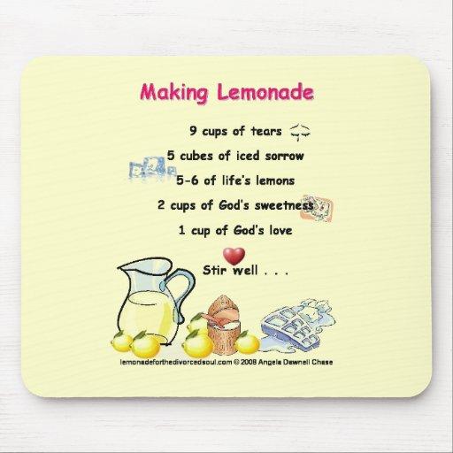 making lemonade poem mouse pad