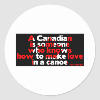 Making Love in a Canoe Classic Round Sticker