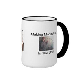 MAKING MOONSHINE IN THE USA RINGER MUG