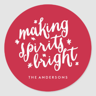 Making Spirits Bright Classic Round Sticker