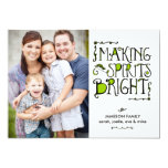 Making Spirits Bright in Lime Holiday Card Invitation