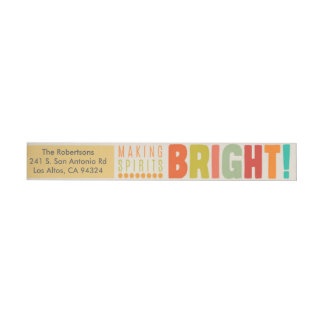 Making Spirits Bright - Wraparound Wraparound Address Label