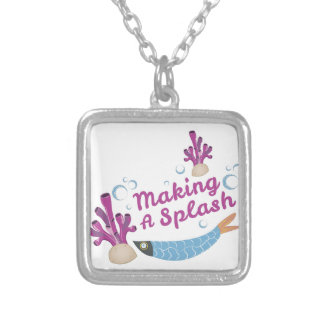 Making Splash Silver Plated Necklace