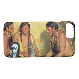 Making Sweetgrass Medicine, Blackfeet Ceremony iPhone 8/7 Case