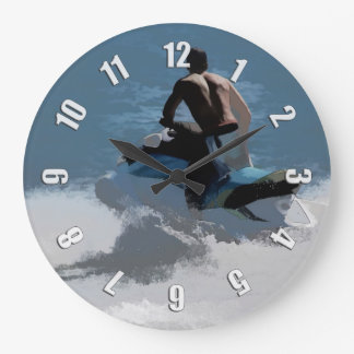 Making Waves - Jet Skier Large Clock