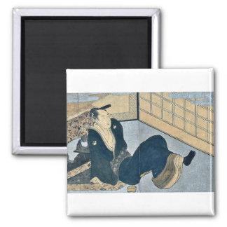 Makura ehon no iichib by Kitagawa, Utamaro Ukiyoe Fridge Magnets