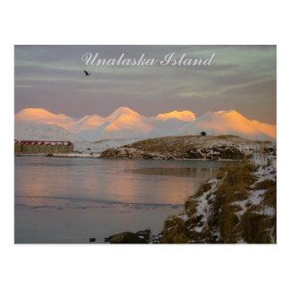 Makushin Mountains During a Winter Sunrise Postcard