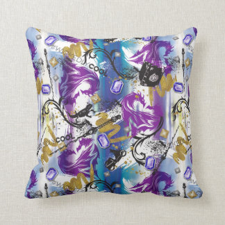 Mal Two-Headed Dragon Pattern Throw Pillow
