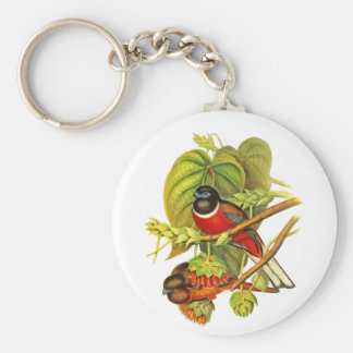 Malabar Trogon Basic Round Button Key Ring