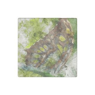 malachit butterfly stone magnet