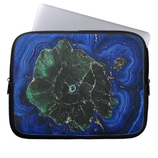 Malachite Azurite Island Laptop Sleeve