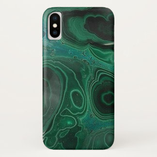 Malachite Geode iPhone X Case
