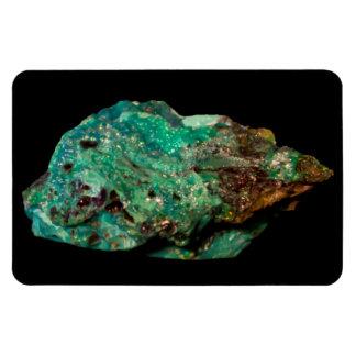 Malachite Green Mineral Photo on Black Magnet