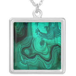 Malachite Natural Stone Necklace (teal/turquoise)