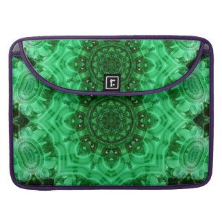 Malachite Star Mandala Sleeves For MacBook Pro