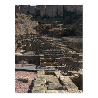 Malaga; amphitheater postcard