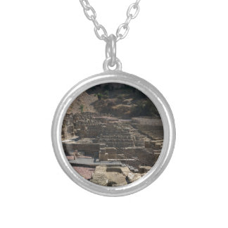 Malaga; amphitheater silver plated necklace