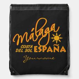 Málaga España custom color daypack Drawstring Bag
