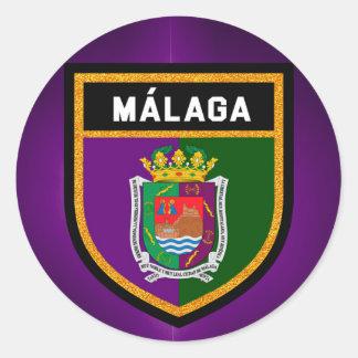 Málaga Flag Round Sticker