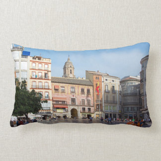 Malaga. View of the city. Lumbar Cushion