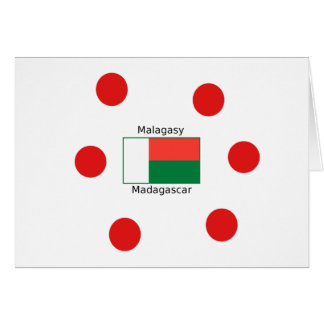 Malagasy Language And Madagascar Flag Design Card