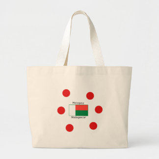 Malagasy Language And Madagascar Flag Design Large Tote Bag