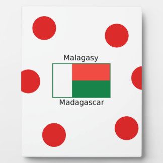 Malagasy Language And Madagascar Flag Design Plaque