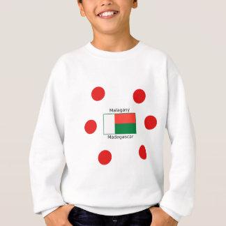 Malagasy Language And Madagascar Flag Design Sweatshirt