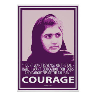 Malala - Picture of Courage (Purple Series) Poster
