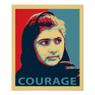 Malala Yousafzai - A Picture of Courage Poster