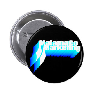 MalamaCo Marketing Button (Shades of Blue). 2 Inch Round Button