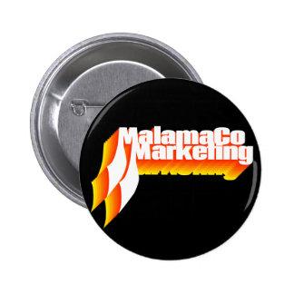 MalamaCo Marketing Button (Shades of Orange).