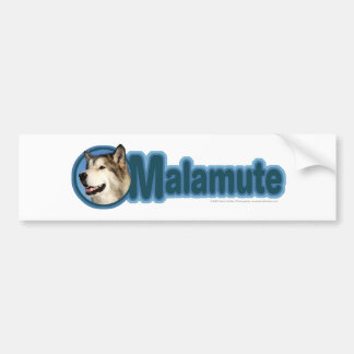 Malamute Art Bumper Sticker