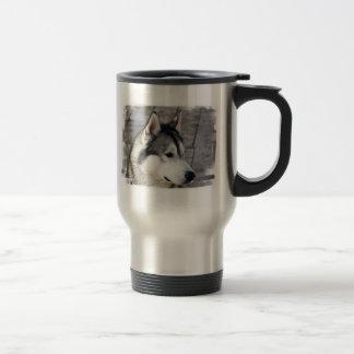 Malamute Photo Stainless Travel Mug