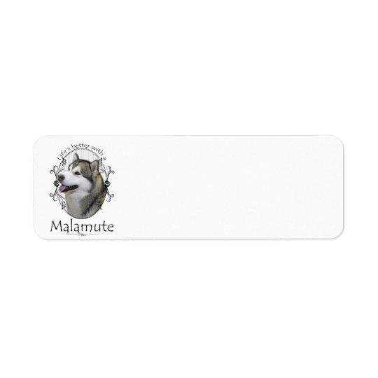 Malamute Return Address Label