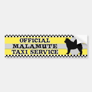 Malamute Taxi Service Bumper Sticker